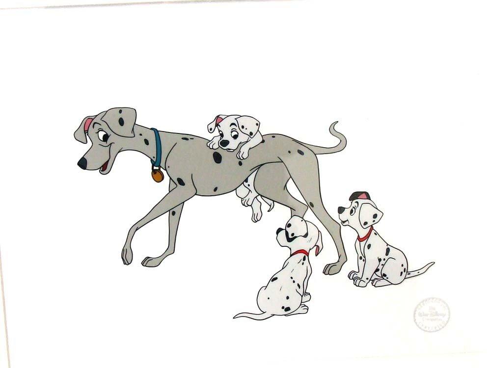 Disney Animation Art Sericel 101 Dalmations Frame
