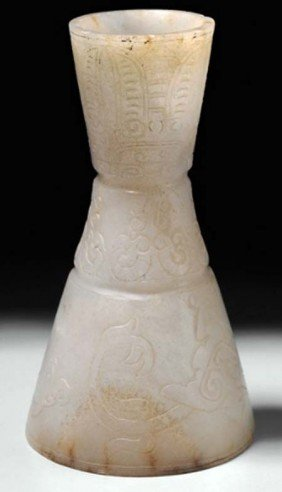 Antique chinese old Jade Stemmed Wine Cup