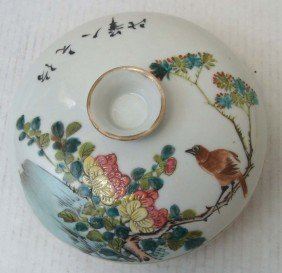 Chinese porcelain 4 Section Porcelain Bowl With Lid