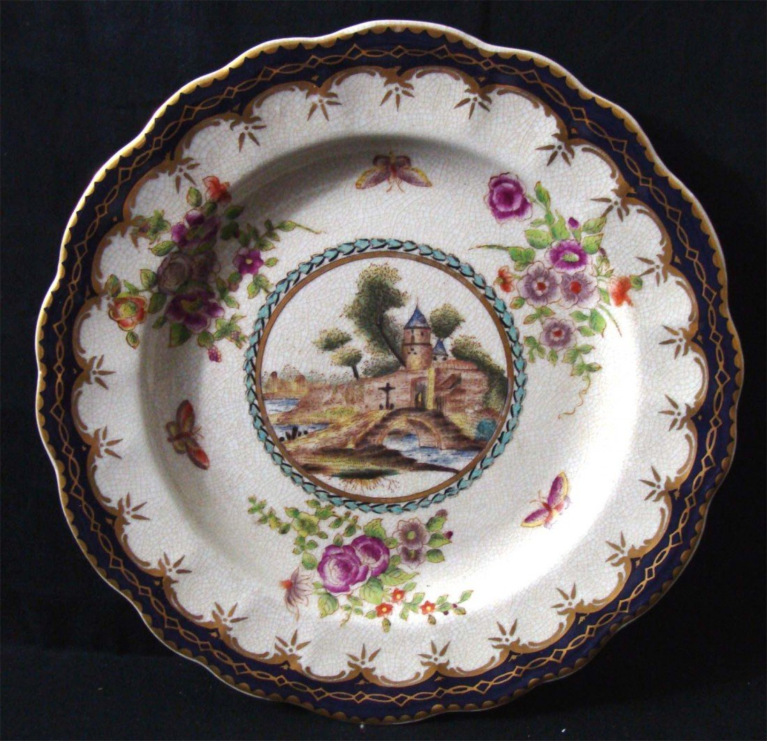 Chinese Plate French design Church Scene