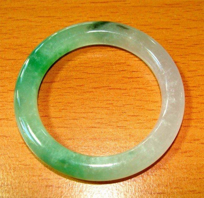 CHINESE Green JADE Baby size Bangle bracelet