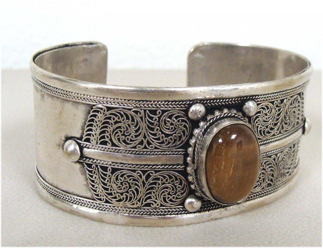 Nepal Tibetan Nickel Silver Bracelet
