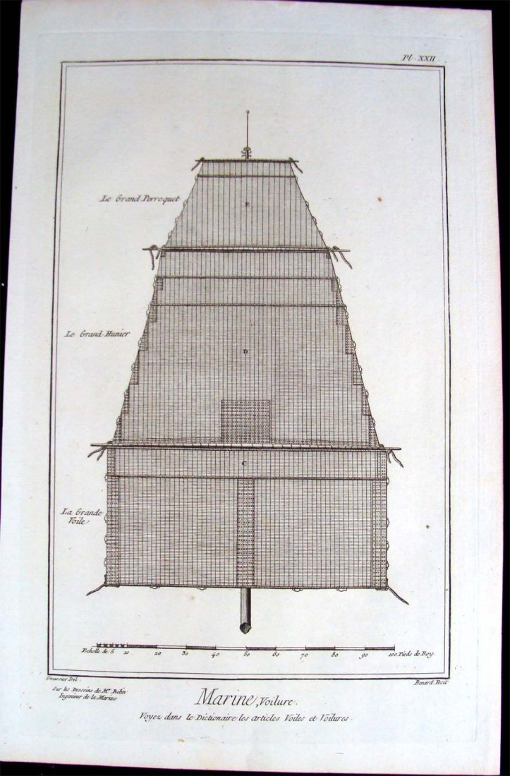 Ship Building: B/W Copper Plate Etching 1760