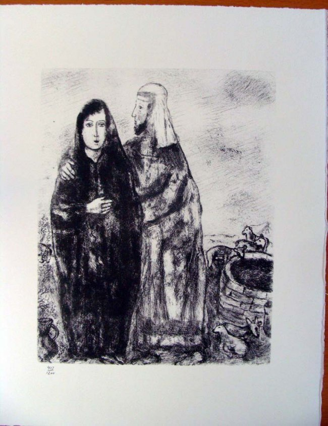 Chagall Rencontre de Jacob et de Rachel 1975 #412/1200