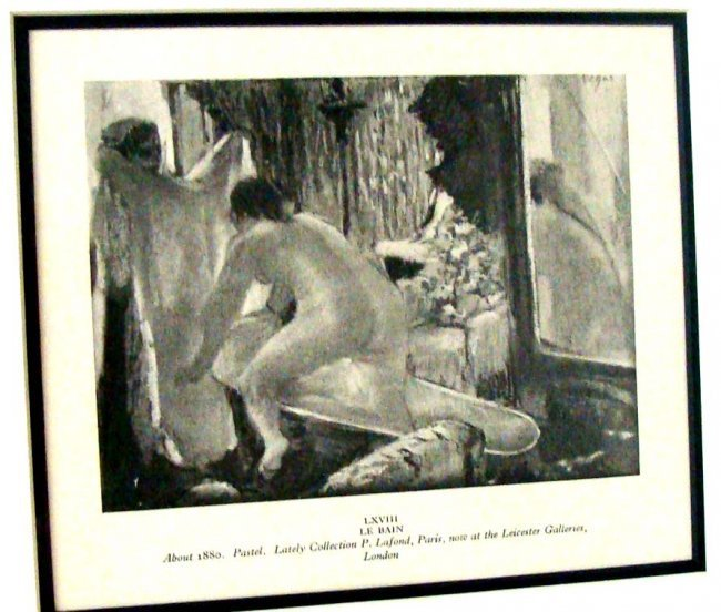 Edgar Degas Le Bain After 1880 Pastel Print 1923 Editio