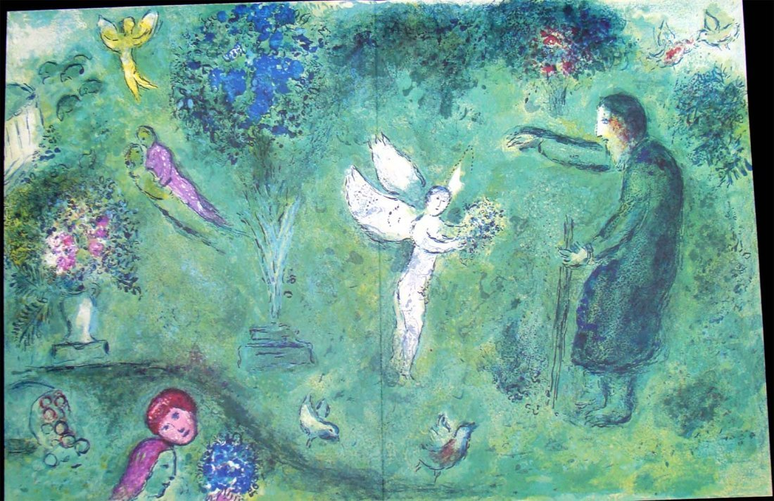 Chagall from Verve Double Page Lithograph 1950's