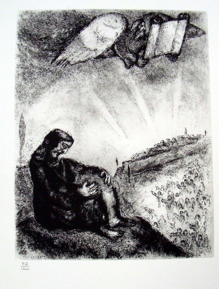 Marc Chagall Bible Suite Plate XC 1975 by Vollard