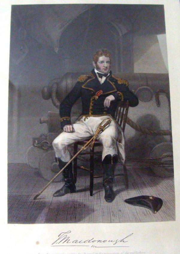 Antique Engraving Portrait of MacDonough War of 1812