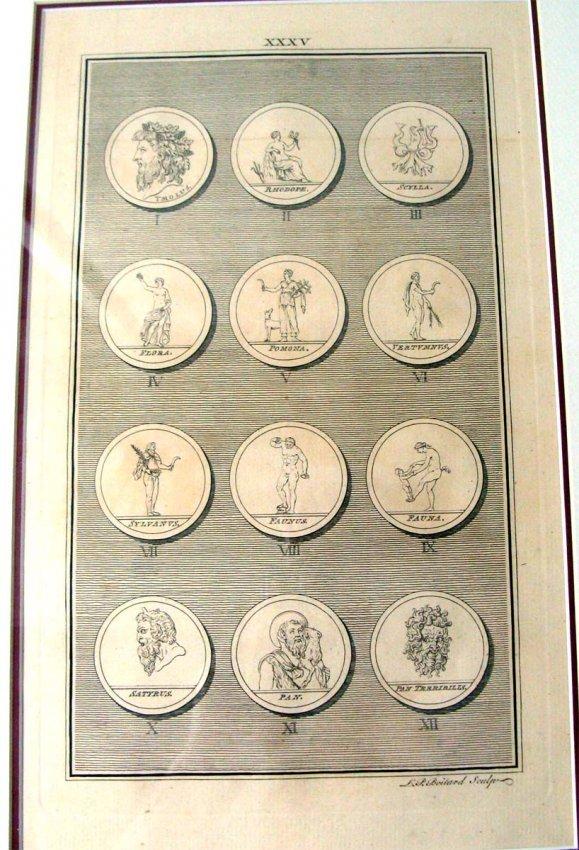 1747 Antique 12 Greek Mythology Medals by LP Boitard