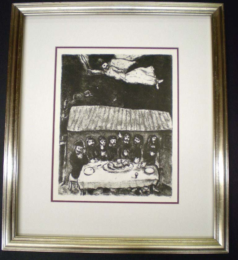 Chagall Verve Bible Engraving The Passover Feast