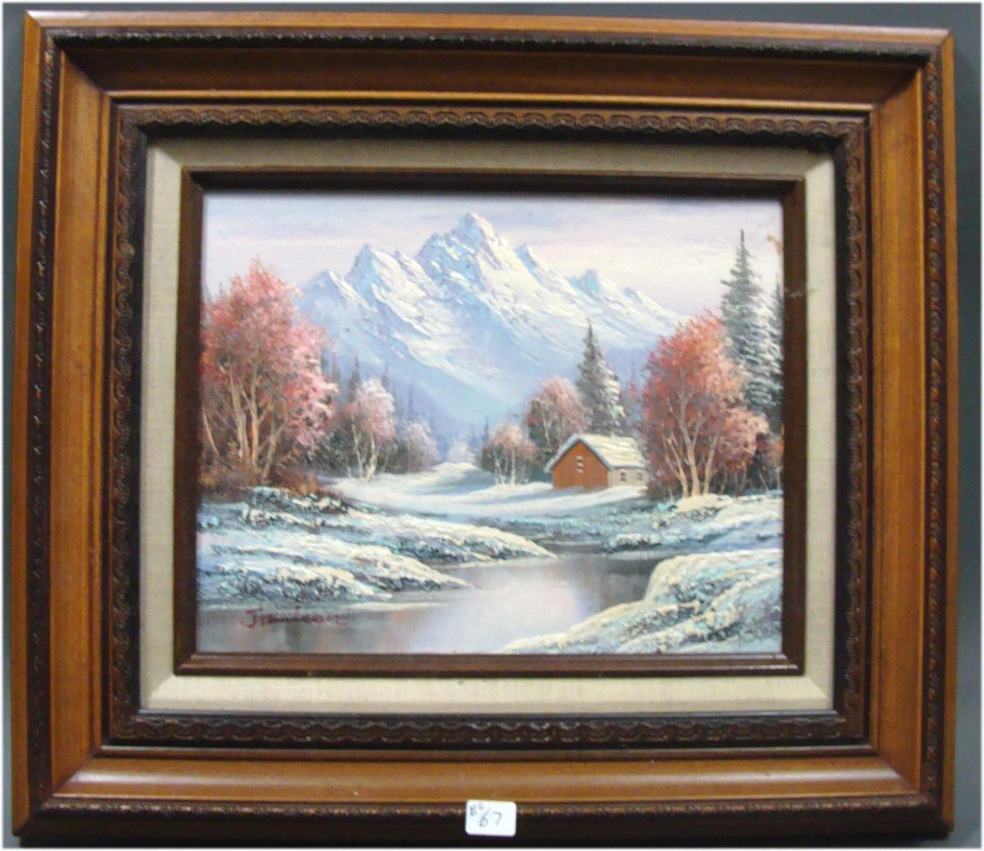 3030: Snowy Mountain Oil painting by Jamison