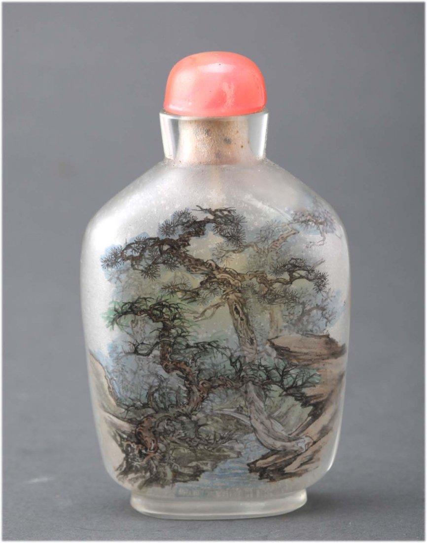 Chinese Reverse Painted Peking glass snuff bottle