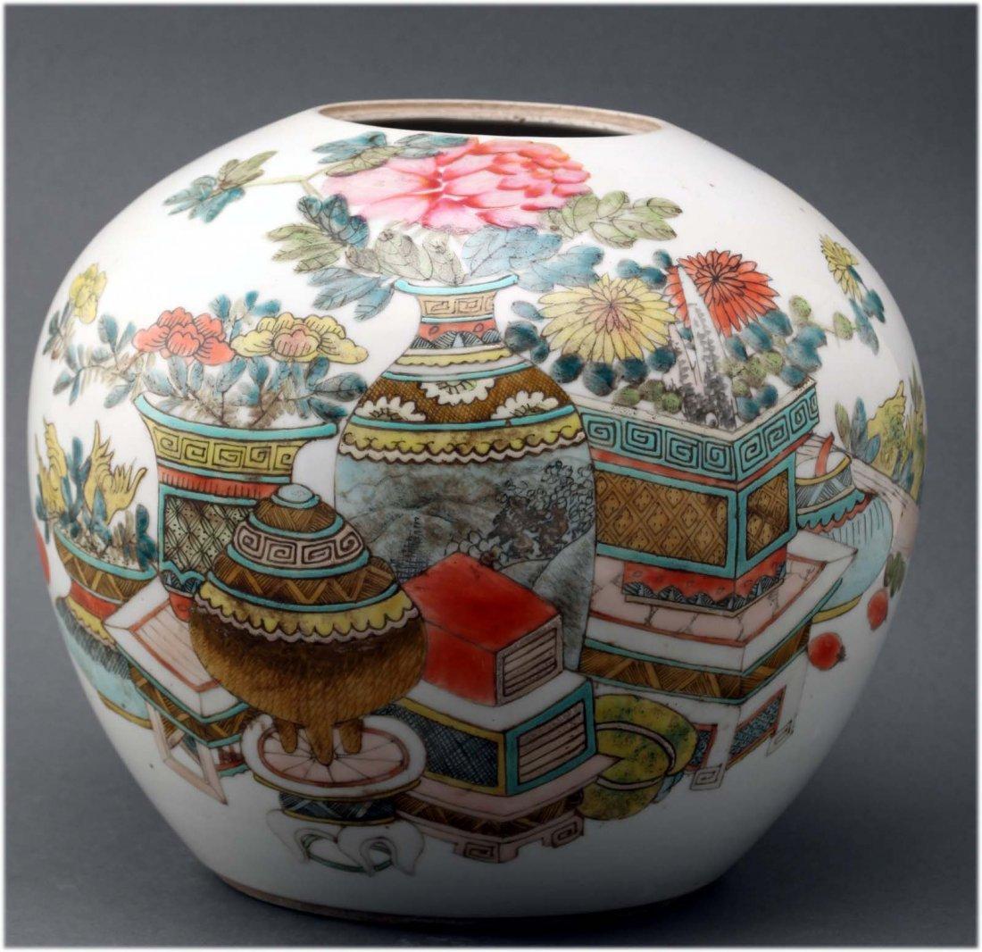 Chinese Famille Rose Antique Porcelain Jar