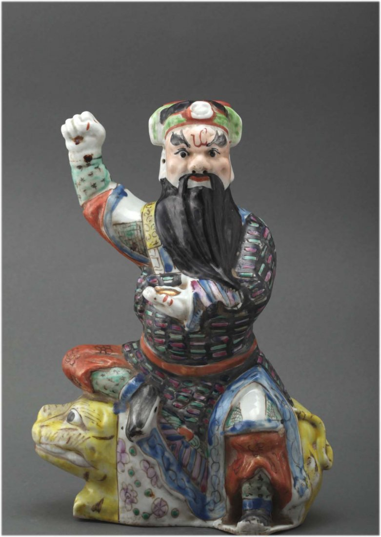 Chinese Republic Antique Famille rose porcelain figure