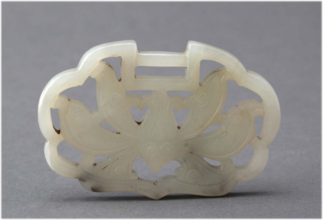 Chinese Antique Carved Jade Child Lock