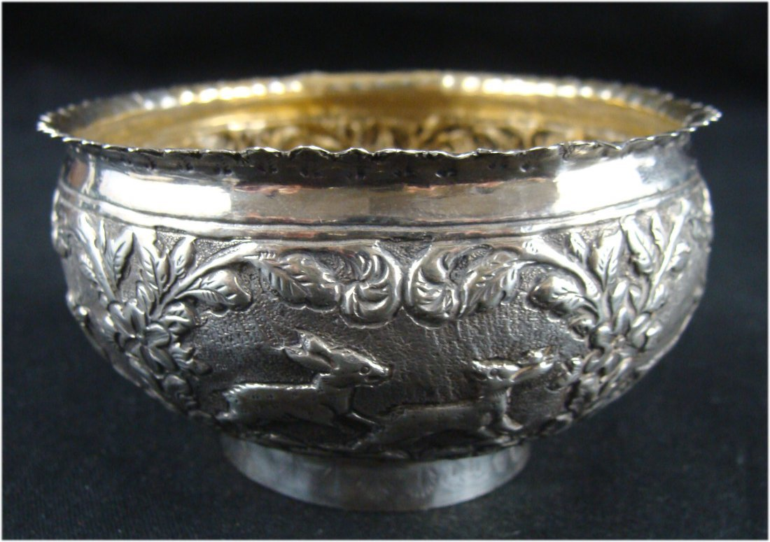 Signed Persian Silver Engraved Bowl