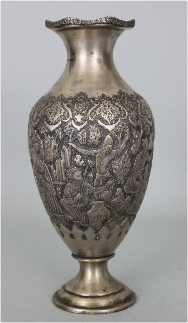 Persian Silver Vase from the 1930's