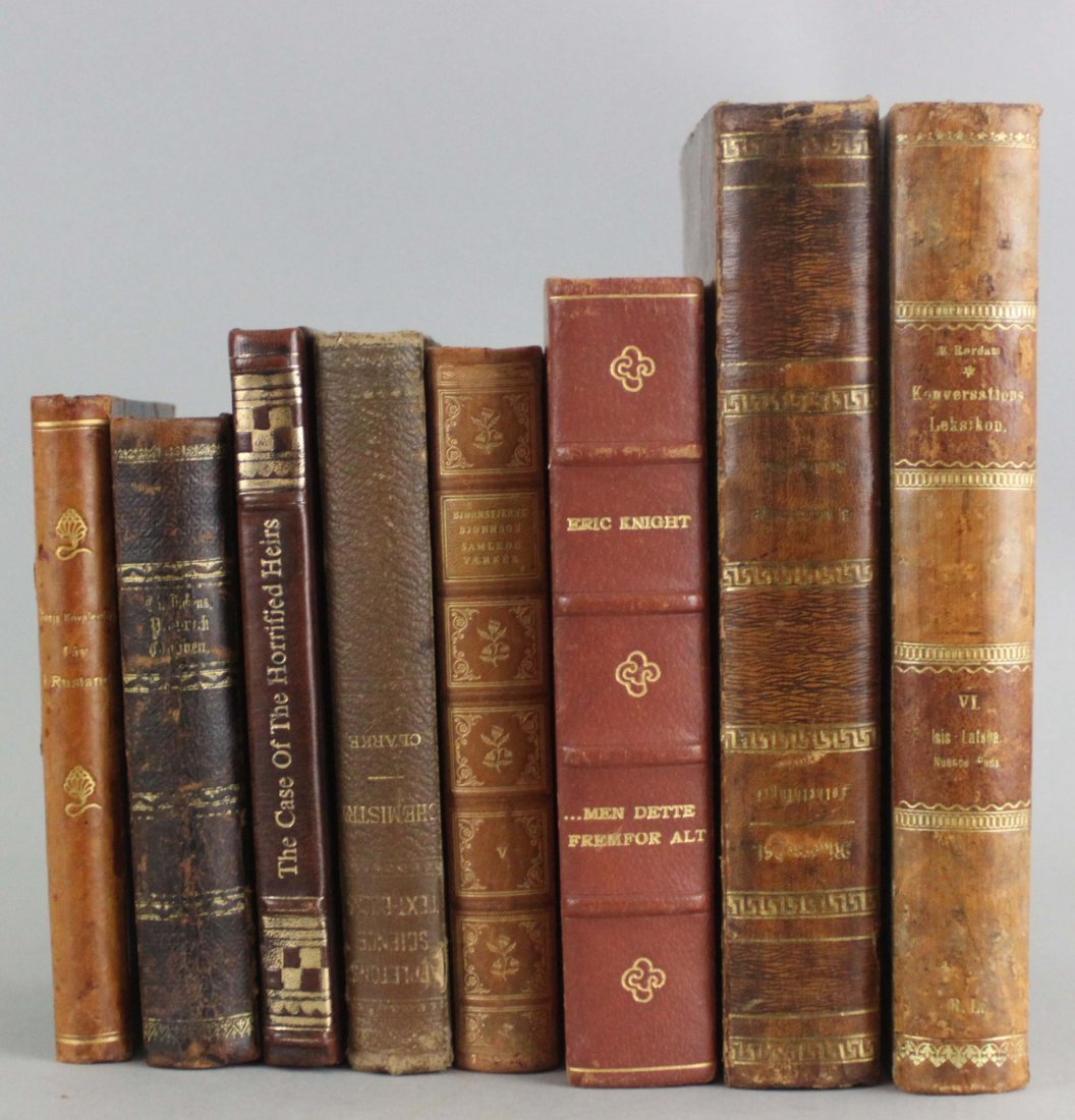 Lot of 8 European and American Hardcover Books