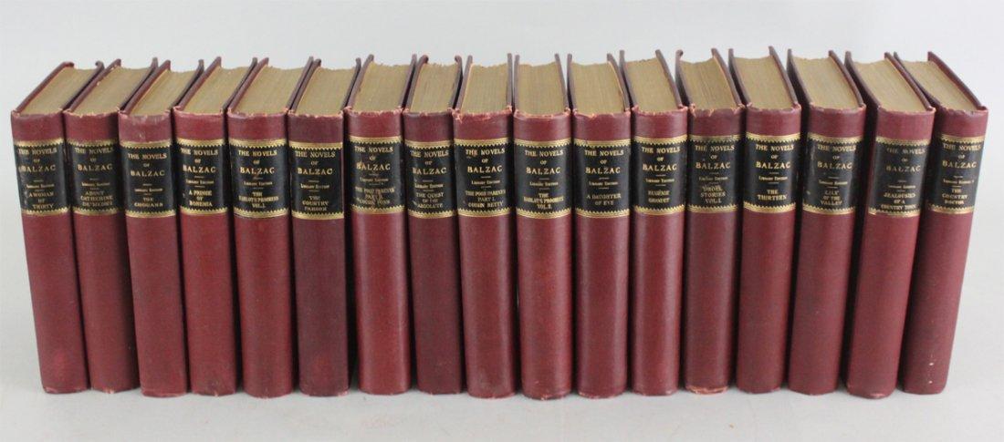 Antique French Balzac Novelist Works Books, (2)