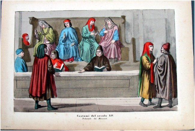 Italy Hand Colored 19th Century Engraving Costumes