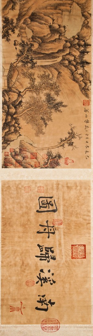 ANTIQUE CHINESE WATERCOLOR PAINTED HANDSCROLL
