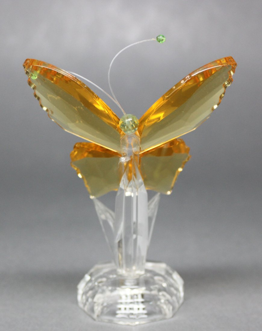 Yellow Crystal Butterfly Sculpture