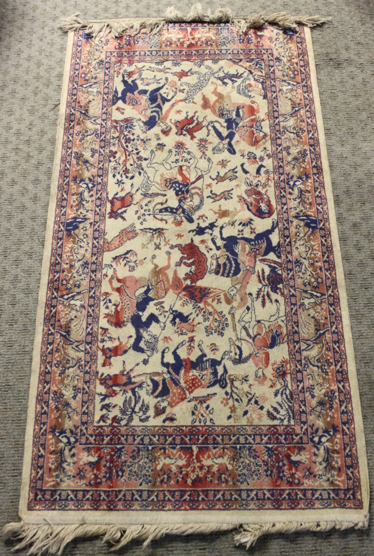 Fine Russian Carpet Horsemen & Animals