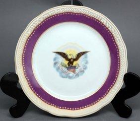 """Danbury Mint """"Royal Purple"""" China Plate"""