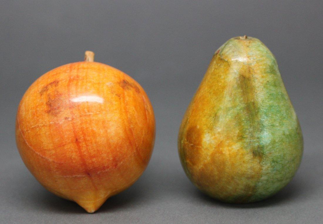 Set of 2 Fruit, Alabaster Stone