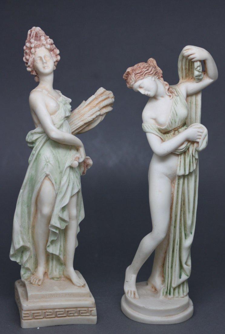 Set of 2 Porcelain Greek Goddesses Nude