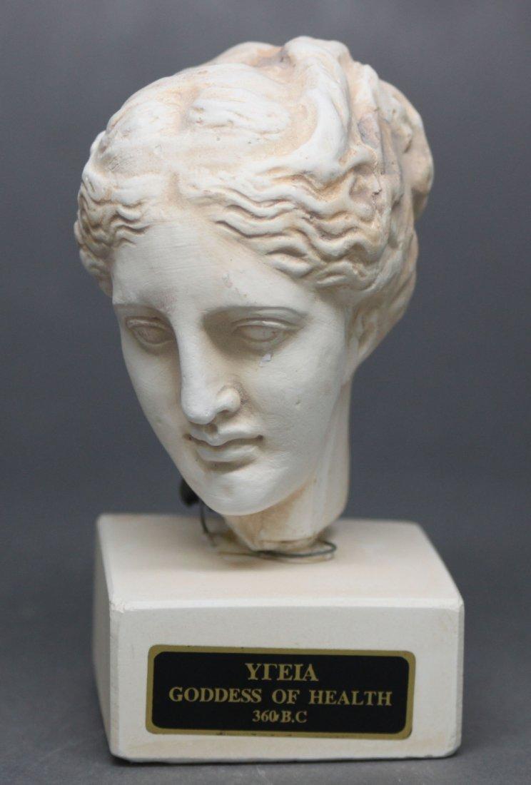 Greek Porcelain Bust Goddess of Health