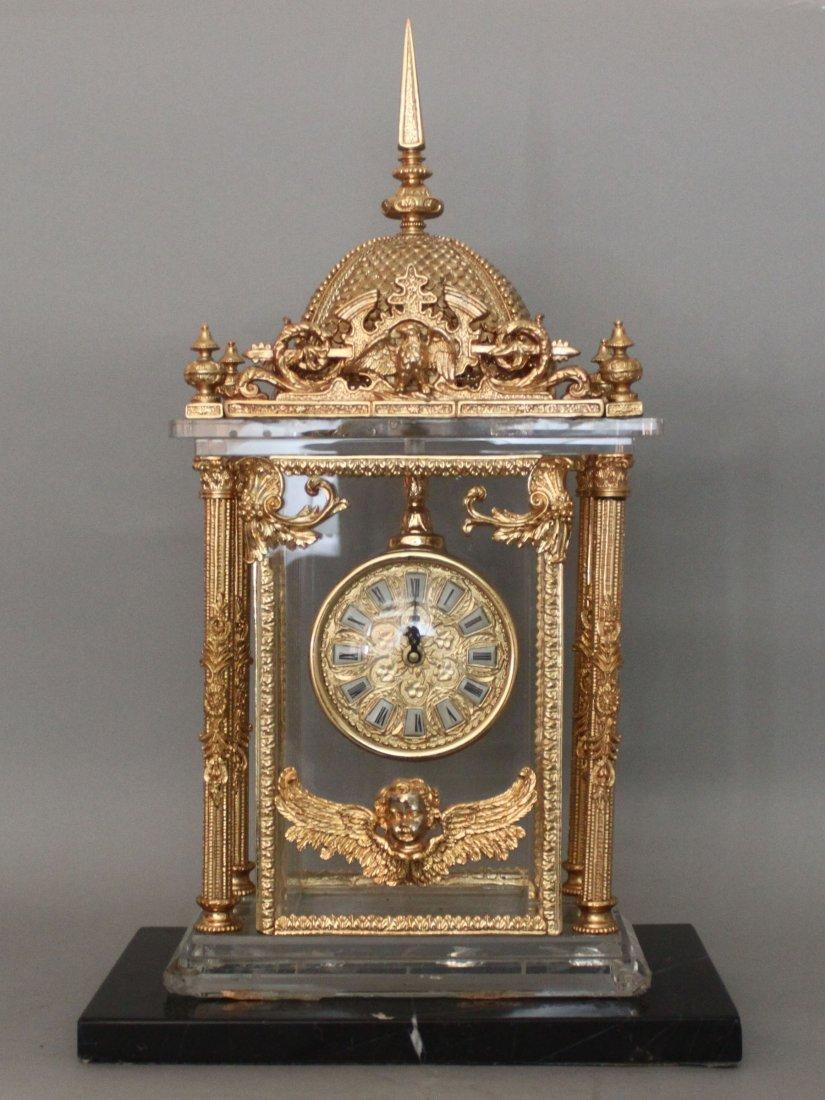 Italian Design Gold Desk Clock