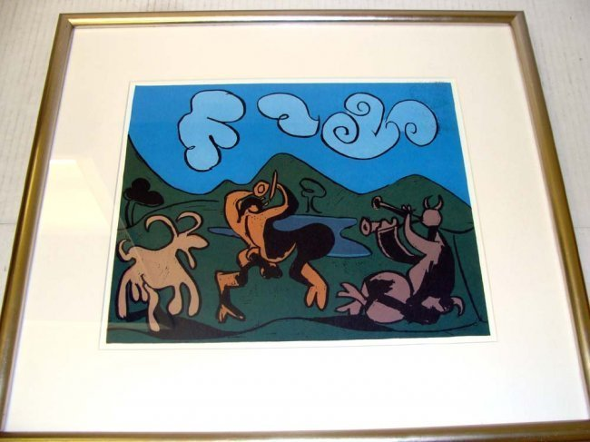 "After Picasso Linocut S.P.A.D.E.M. 14X12.5"" Framed - 2"