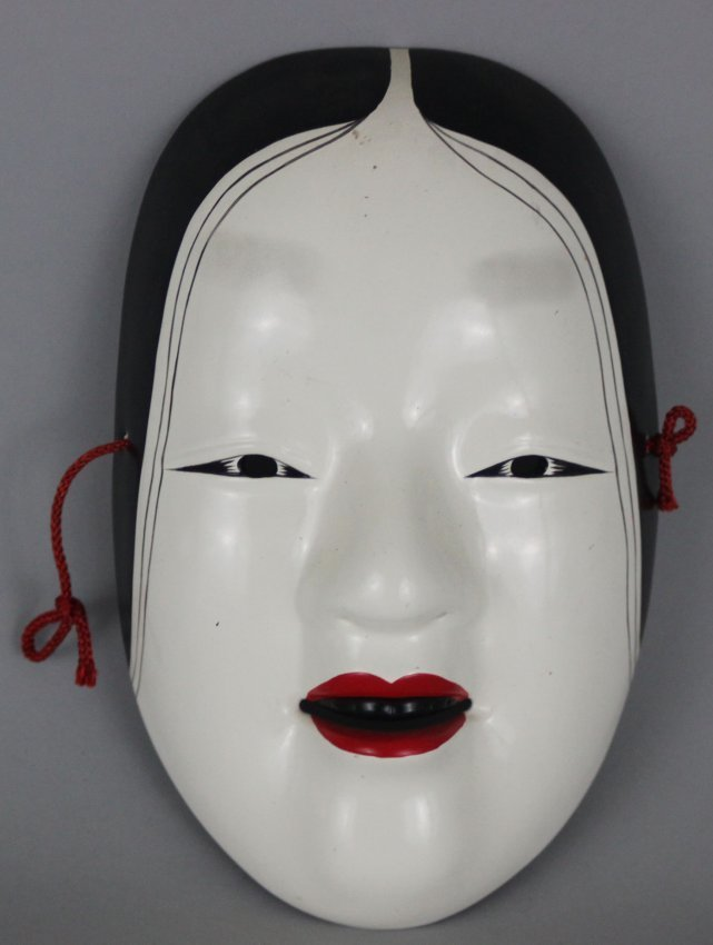 White Face Drama Mask Red Lips
