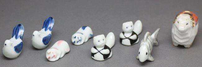 Lot of 8 Miniature Porcelain Animals