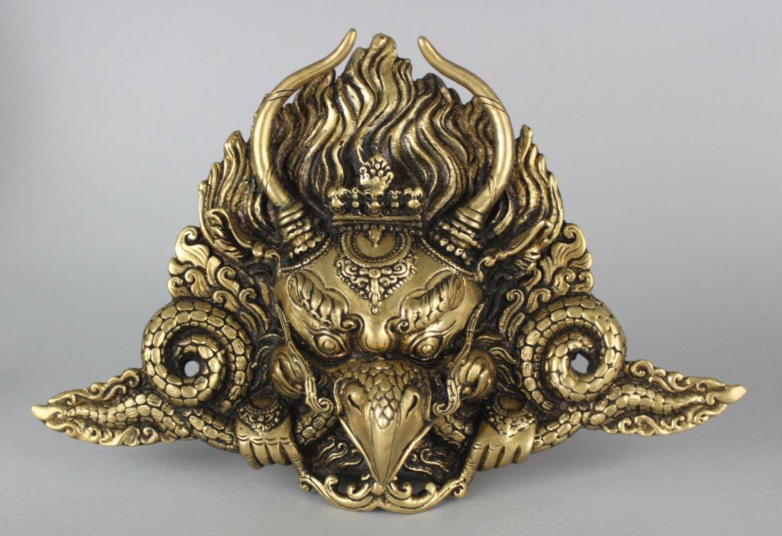 Nepal Brass Garuda Mask Animal Face God