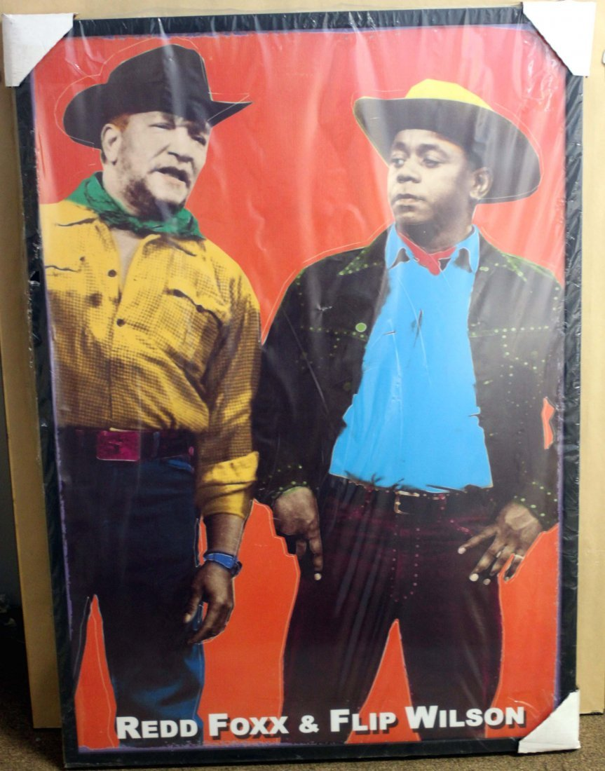 Redd Fox & Flip Wilson Original Silkscreen Portrait