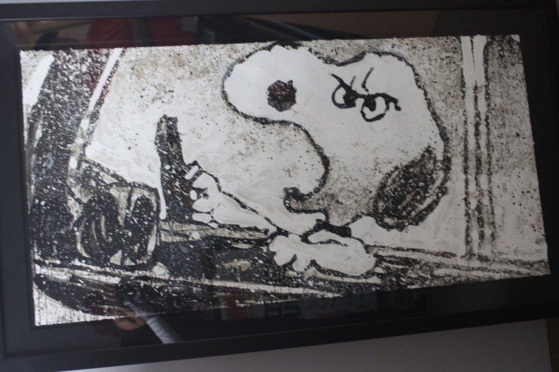 """Snoopy """"Rage Rover"""" By Tom Everhart Lithograph 58""""X33"""""""