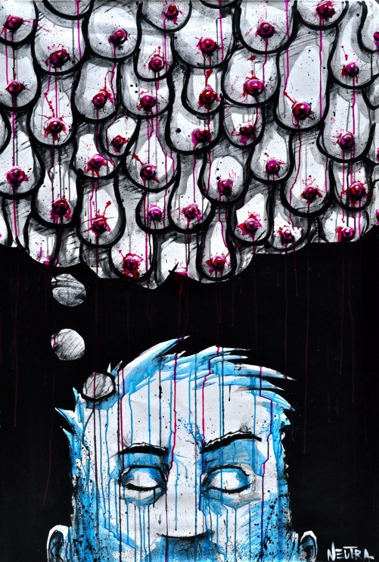 "Max Neutra Acrylic on canvas ""Memories"""