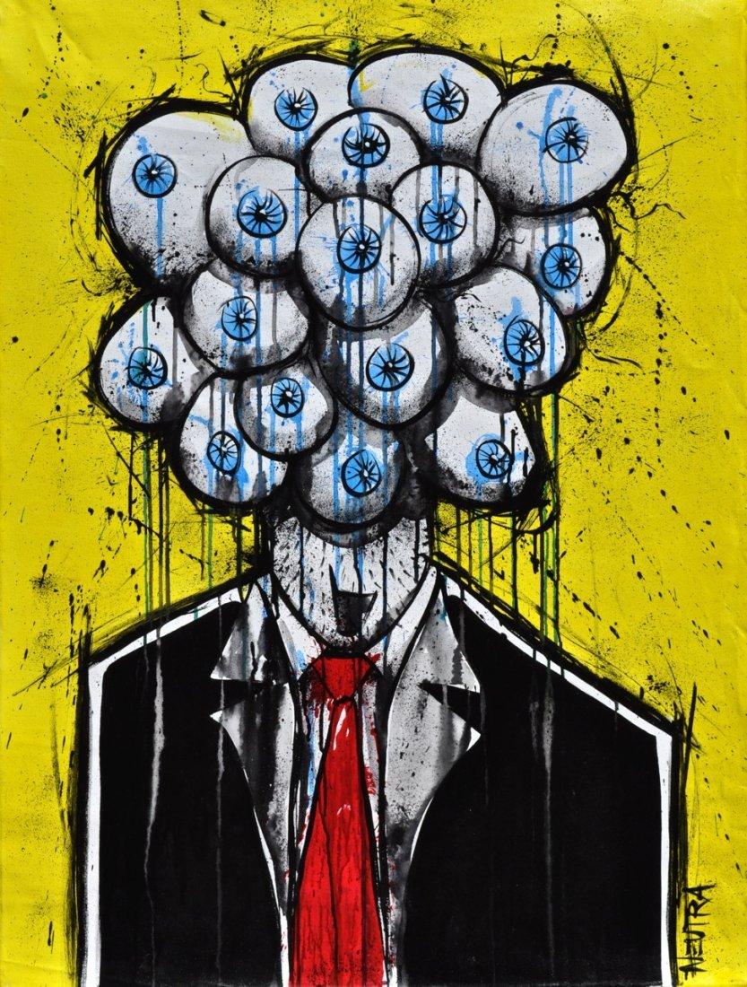 "Max Neutra Acrylic on canvas ""Mr."""