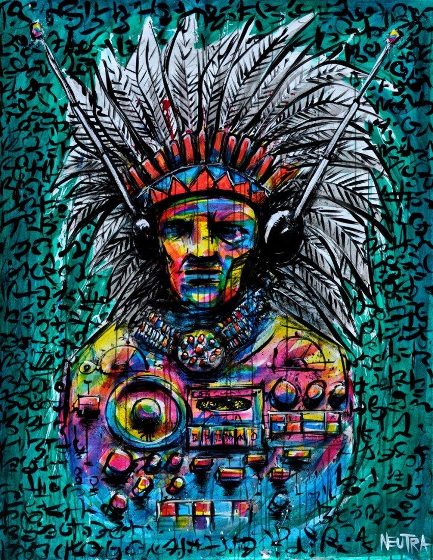 "Max Neutra Acrylic on canvas ""Radio America"""