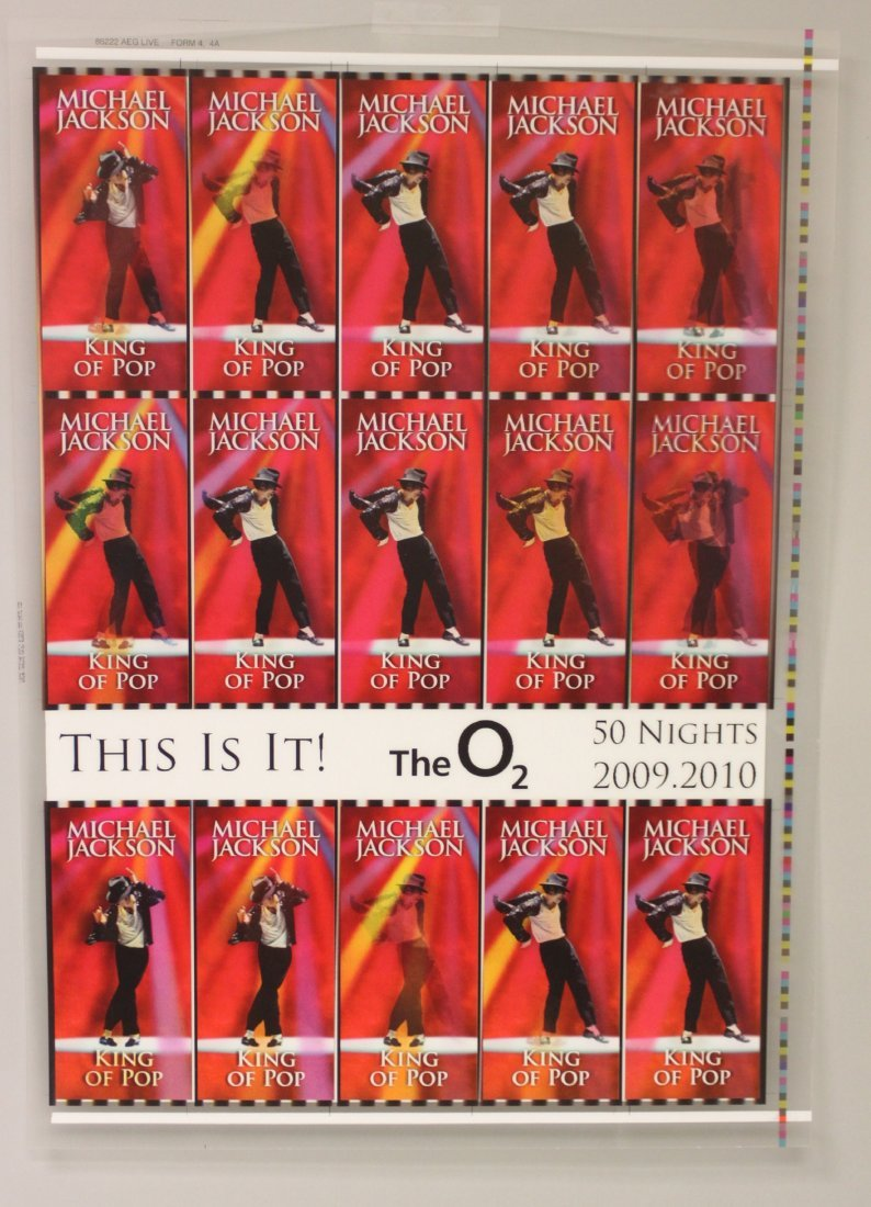 """Michael Jackson Lenticular Uncut Tickets """"This Is It"""""""