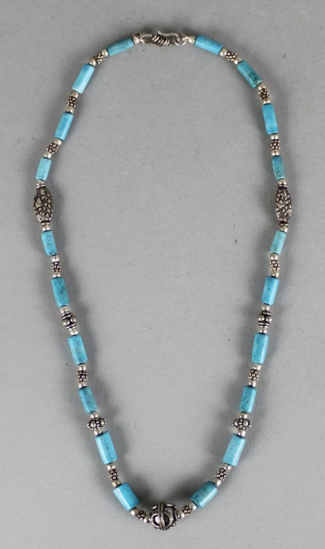 Nepal Silver & Beaded Necklace