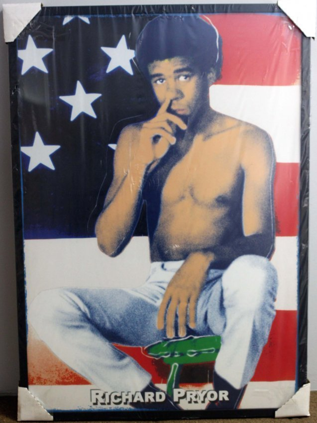 Richard Pryor Portrait & USA Flag Original Silkscreen
