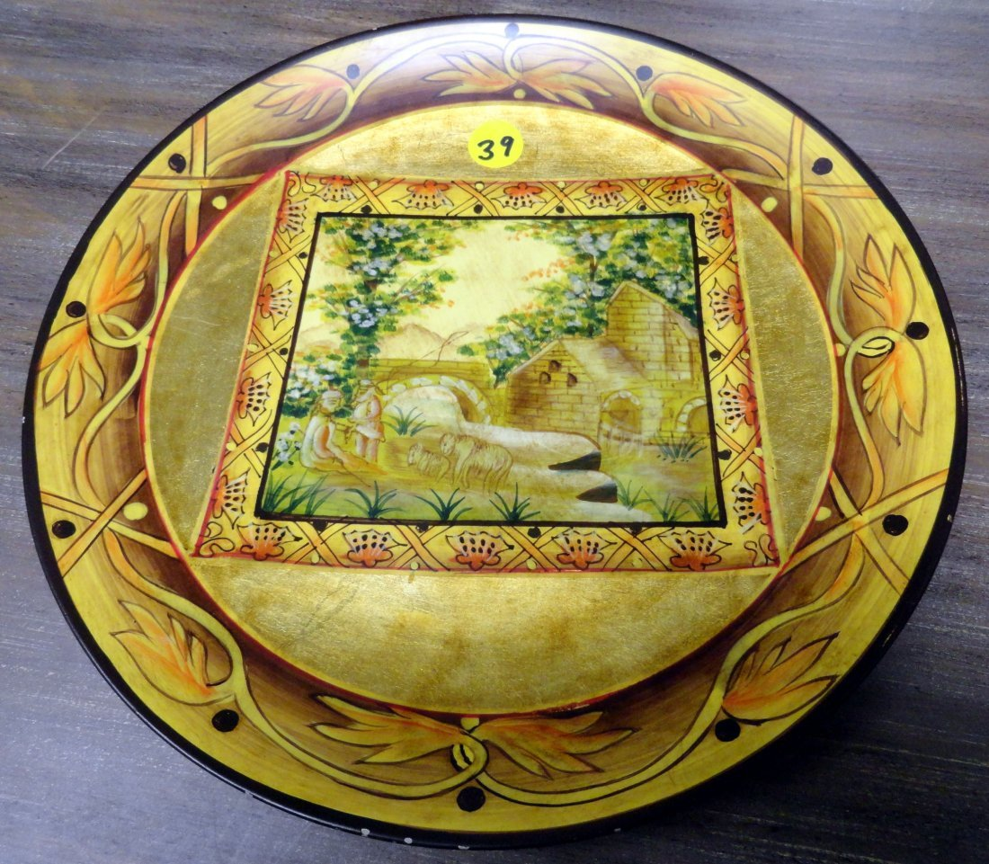 RC Creations Gilded Plate Sheep and Shepherds