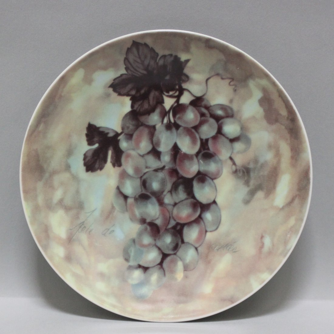 I. Godinger & Co decorative Plate - Grapes - 2