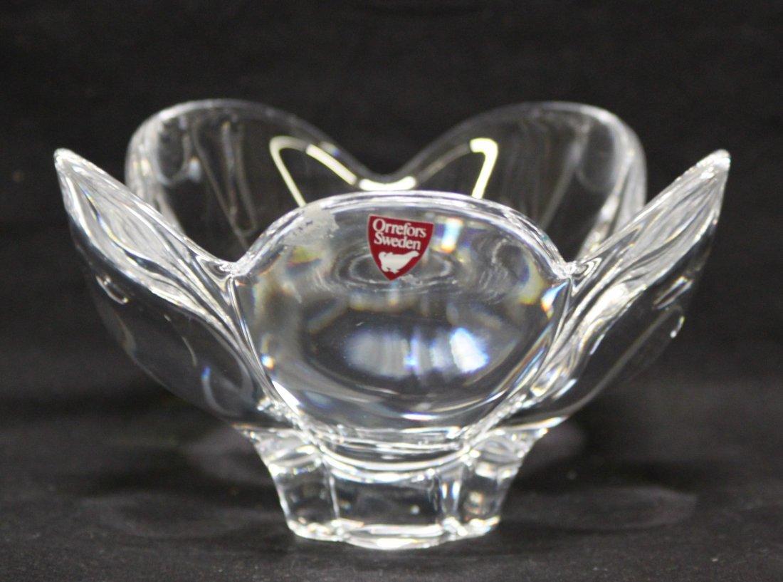 Vintage Orrefors Crystal blossom vase bowl