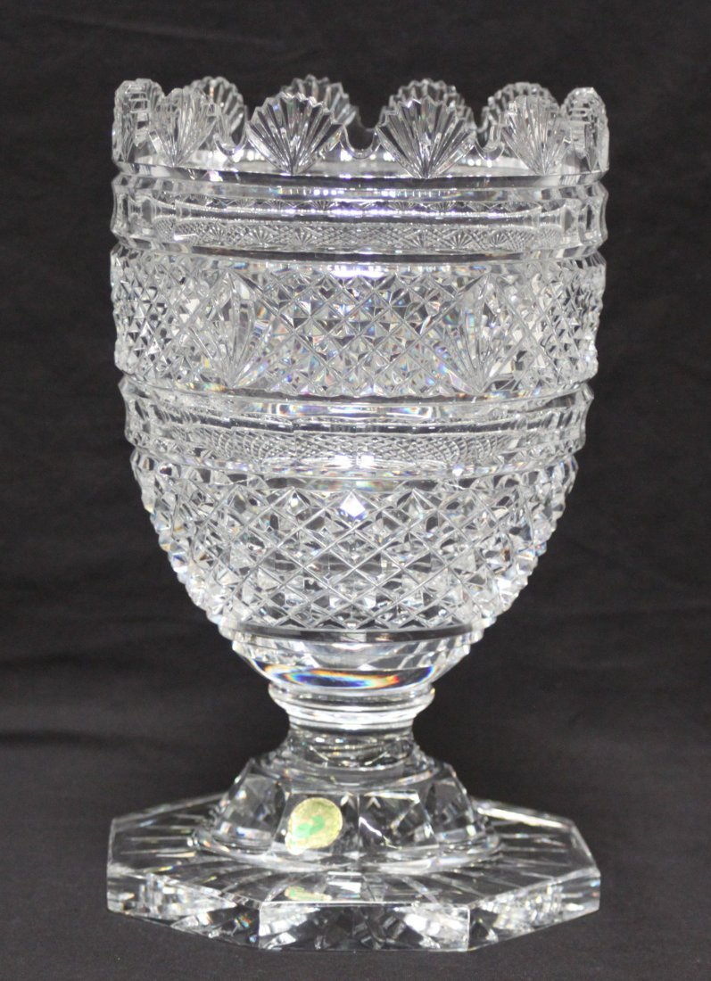 Waterford Scalloped Crystal Vase Master Cutter 1989