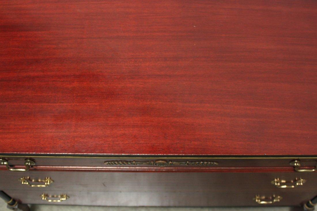 Rway Empire Chest Mahogany gold black inlay dresser - 6