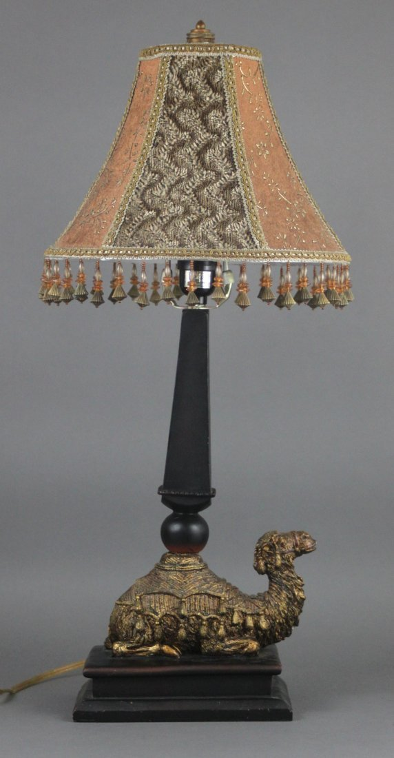 Vintage Decorative Camel Lamp Bronze & Resin